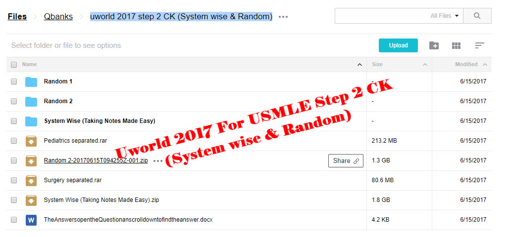 Uworld 2017 For USMLE Step 2 CK (System wise & Random