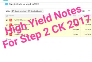 High Yield Notes For Step 2 CK 2017