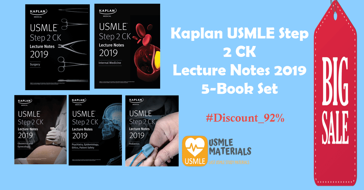 kaplan usmle step  ck lecture notes   book set usmlematerials  usmle study materials