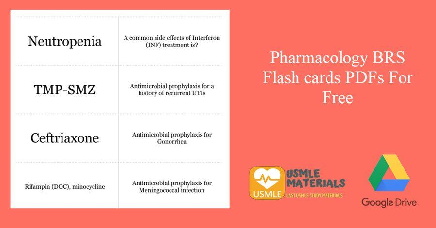 GET Pharmacology BRS Flashcards PDFs For Free