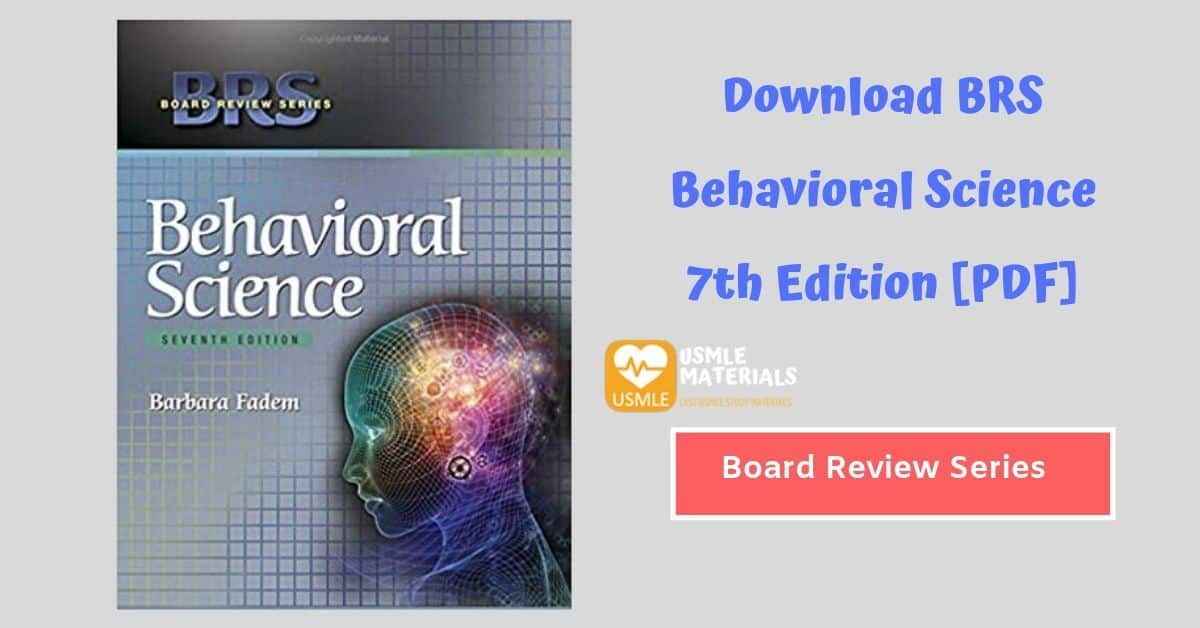 BRS (Board Review Series) Behavioral Science 7th (Seventh) Edition [PDF]